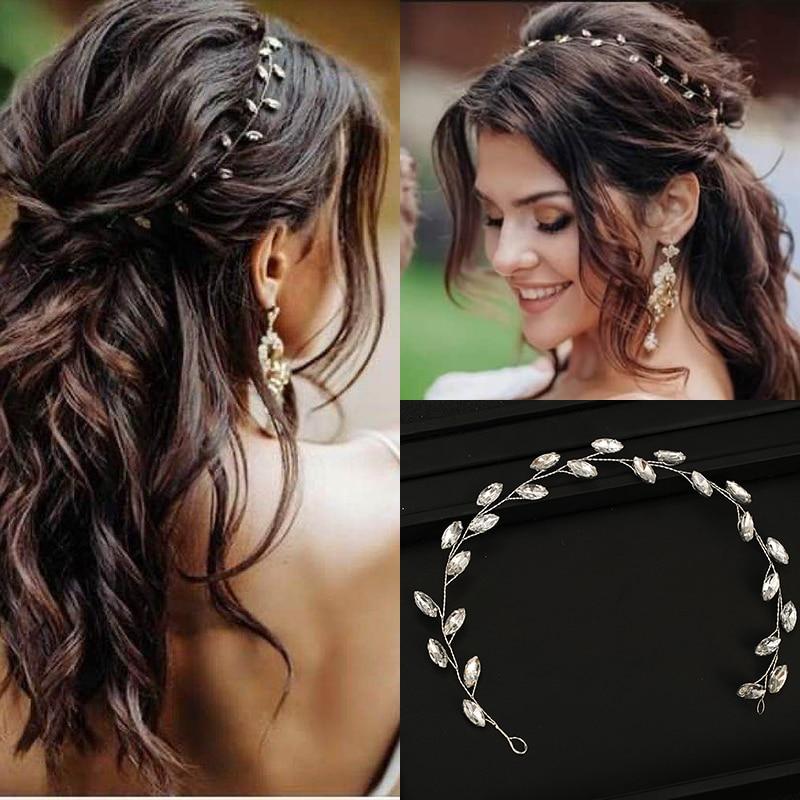 Тиары для невесты серебристого цвета, повязки на голову для свадьбы, ручная работа, недорогая бижутерия для волос с кристаллами, головной уб...