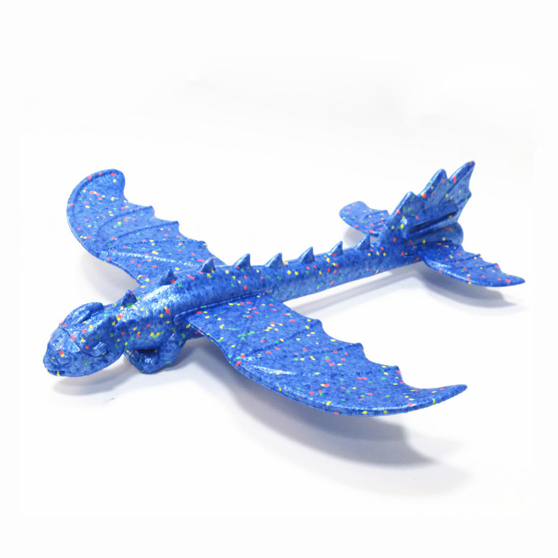 48cm Dinosaur Shape Foam Plane Outdoor Toys for Children Hand Throwing Glider Airplane Glider Inertial Airplane Party Game Toys