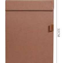 learning stationery A4 Clipboard Leather Writing Pad Clip Clip Signboard Office Plywood Stationery Writing Board