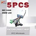 Оптовая продажа JS E-bike 36V 14AH 250W lcd контроллер электрический велосипед запчасти для электромотоцикла синусоида стабильный контроллер электро...