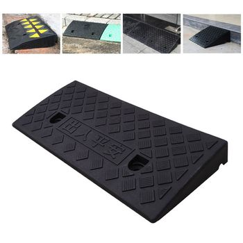 Car Access Ramp Triangle Pad Speed Reducer Durable Threshold for Automobile Motorcycle Heavy Wheelchair Duty Rubber W91F image