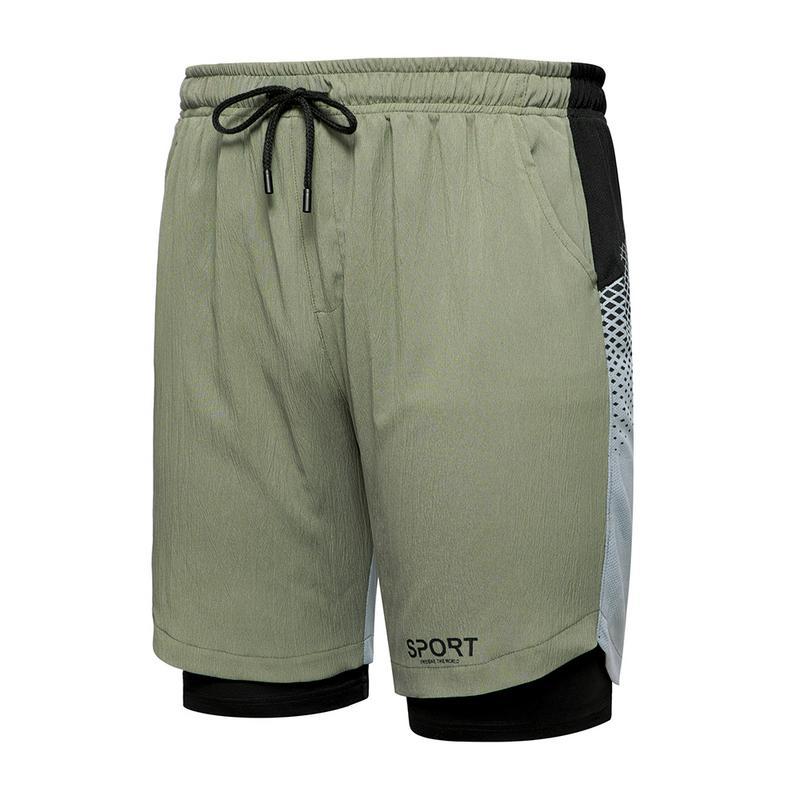 New Summer Shorts Men Clothing Cotton Casual Sports Men Shorts Solid Color Straight Elastic Band Mens Shorts Knee length