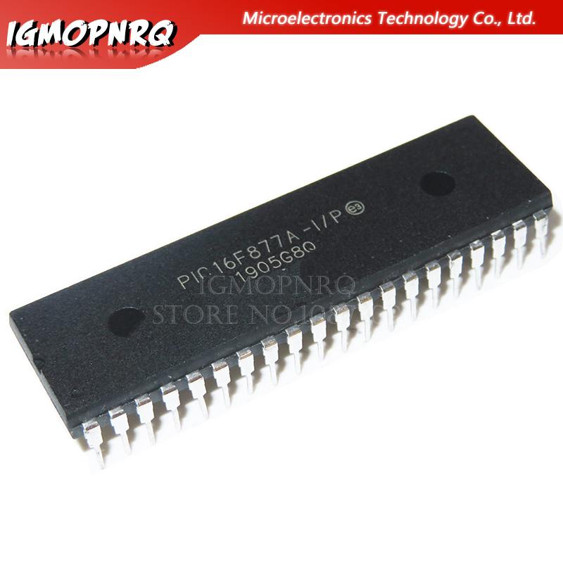 2pcs PIC16F877A-I/P PIC16F877A 16F877A DIP40 Enhanced Flash Microcontrollers New Original