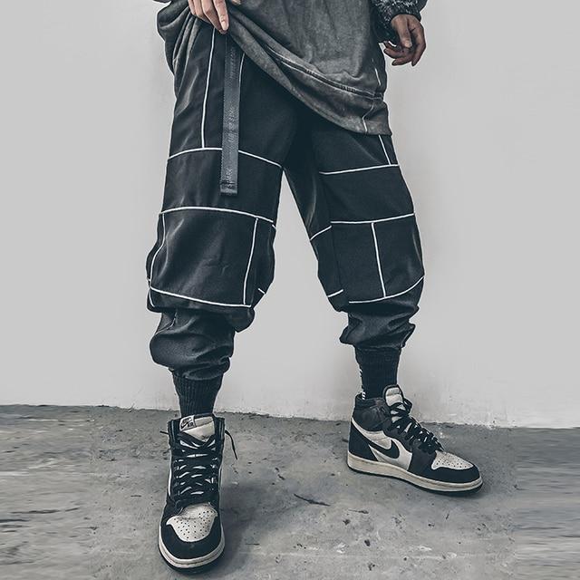 Harajuku Pant Joggers Hip Hop Reflective Japanese pants Streetwear Thin Sweatpant Trousers 26