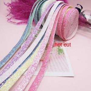 5 ярдов/Партия 1 см Блестящий край-ленты-обмотки для diy заколки для волос, аксессуары для складывания