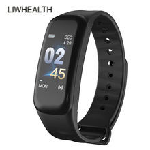 Cheap Color Smart Band Watch HR Fitness Tracker Bracelet Step Sleep Smartband For IOS/Xiaomi/Honor PK Mi Band 4/H5 Not Xiomi ip68 swim color touch smart watch hr bp o2 smart wristbands monitor fitness bracelet for ios xiaomi honor pk mi band 2 fit bit 3
