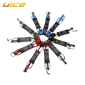 6/7/8/9ft 6/7mm Straight Surfboard Leash Super Strong Webbing Surf Leg Rope Inflatable Paddle Board Leash