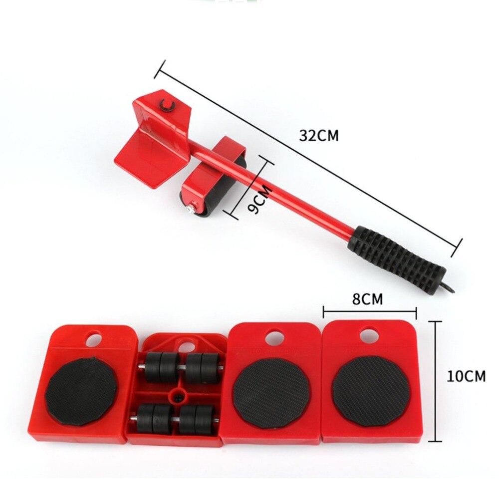 Домашний набор подъемных и передвижных слайдов, простая система для мебели, набор инструментов 5 пакетов, набор инструментов, набор для транспортировки тяжелого грузчика