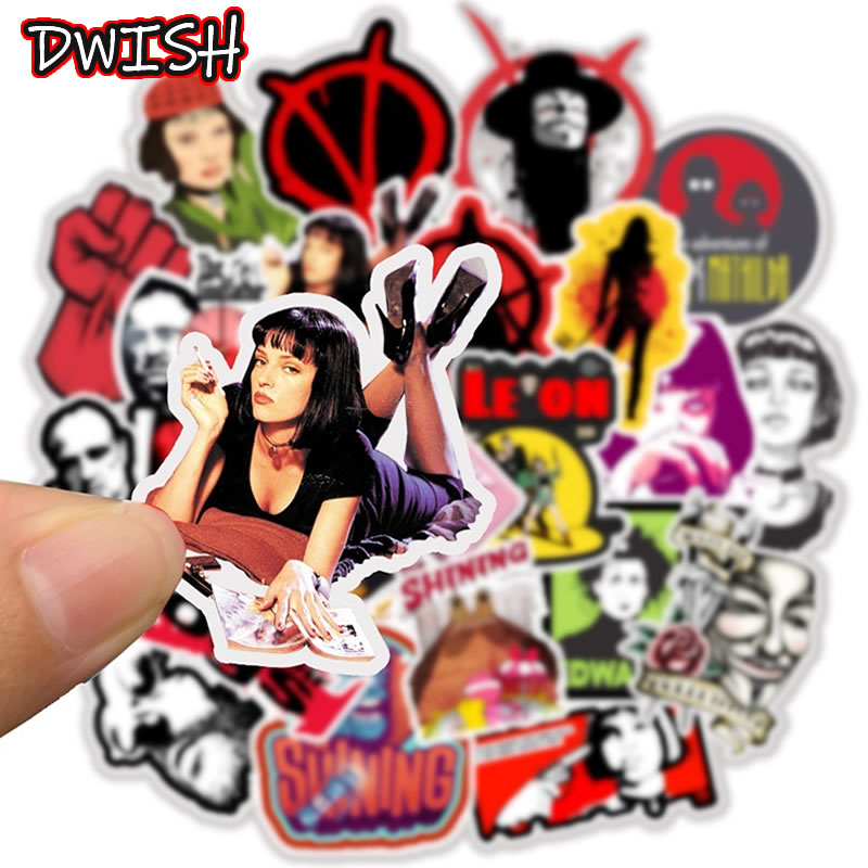 10/30/50pcs Movies Anime Girls Waterproof Stickers Skateboard Guitar Suitcase Motorcycle Funny Graffiti Sticker Kids Classic Toy