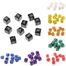 10 шт./компл. подземелья D&D ролевые игры многогранные D6 D10 D12 D20 кубики игры кубик для настольной игры вечерние азартные игры Кубики