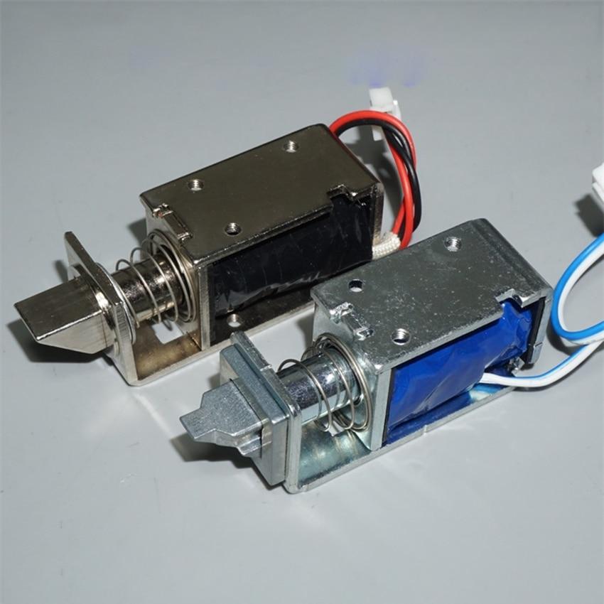 Привод с открытой рамой, линейный мини-Электромагнит с нажимным вытяжным соленоидом, 12 В постоянного тока, ход 5 мм/11 мм, электромагнитный за...