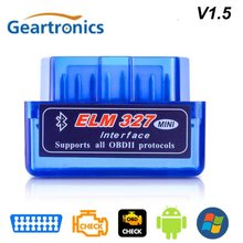V2.1 V1.5 mini scanner obd2 ELM327 OBD2 Bluetooth Scanner automatique OBDII 2 voiture orm 327 testeur outil de Diagnostic pour Android Windows(China)