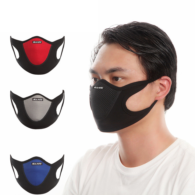 Dustproof Windproof Mask Anti Dust Face Mask Ski Snowboard Skating Cycling Anti-bacterial Reusable Breathable Mask Sulaite