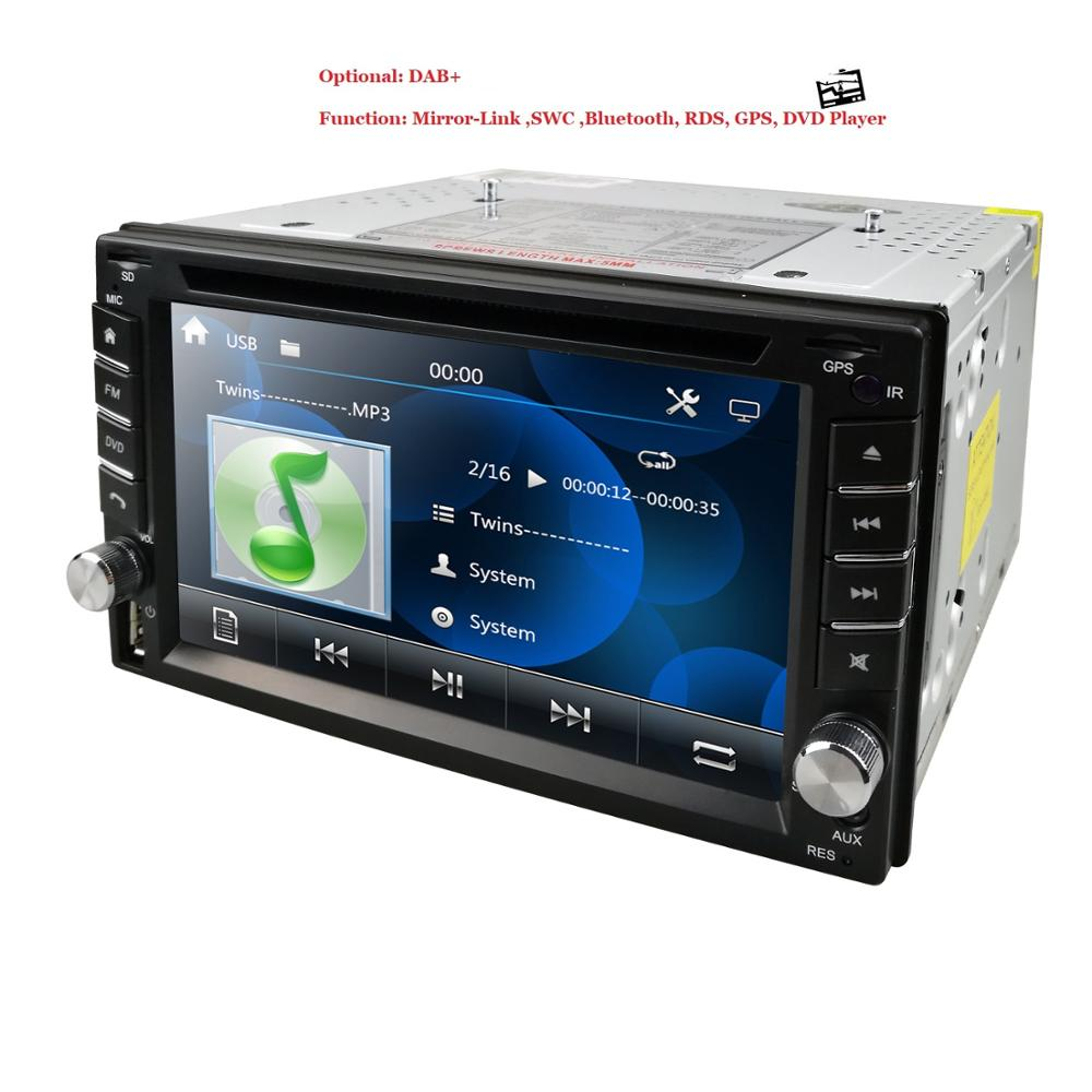 6.2Inch Car Audio Stereo Double Din In-Dash Navigation DVD Player Supports GPS Radio Steering Wheel Control Bluetooth SD RDS AUX