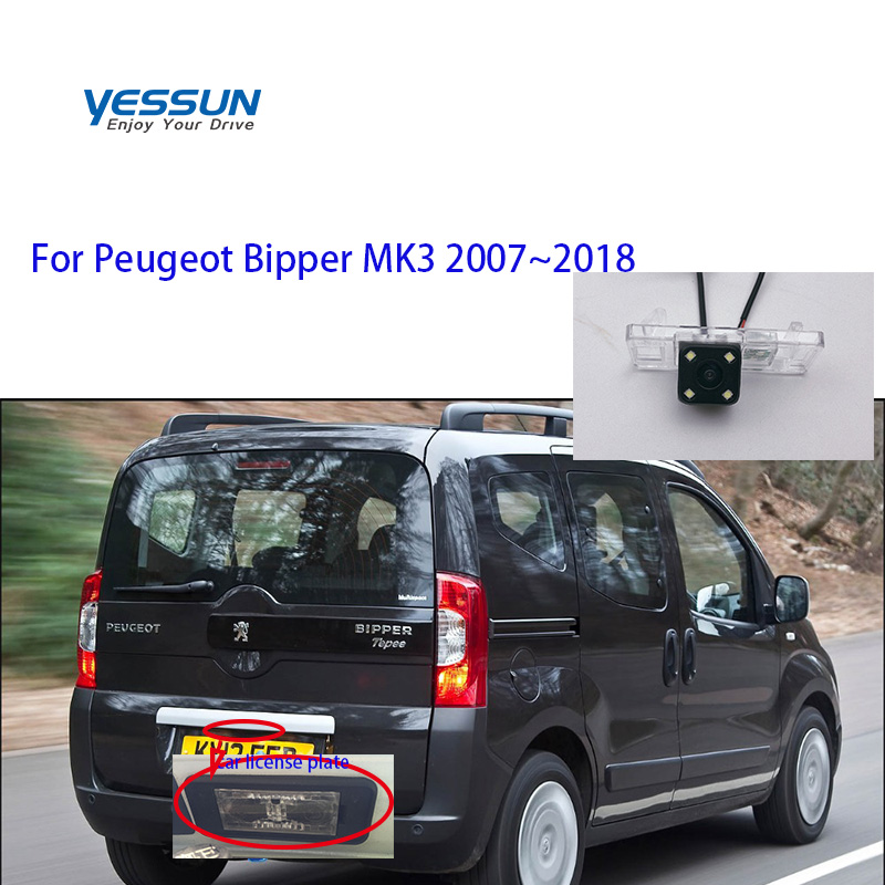 Yessun Auto Accessori Auto della targa della macchina fotografica Dell'automobile di Inverso di Retrovisione di Backup Della Macchina Fotografica Impermeabile Per Peugeot Bipper MK3 2007 ~ 2018
