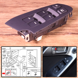 New 14 Pin Car Interior Power Window Switch 935701M100WK LH Left Door Driver Side fit for KIA Forte / Cerato 2010 2011 2012 2013