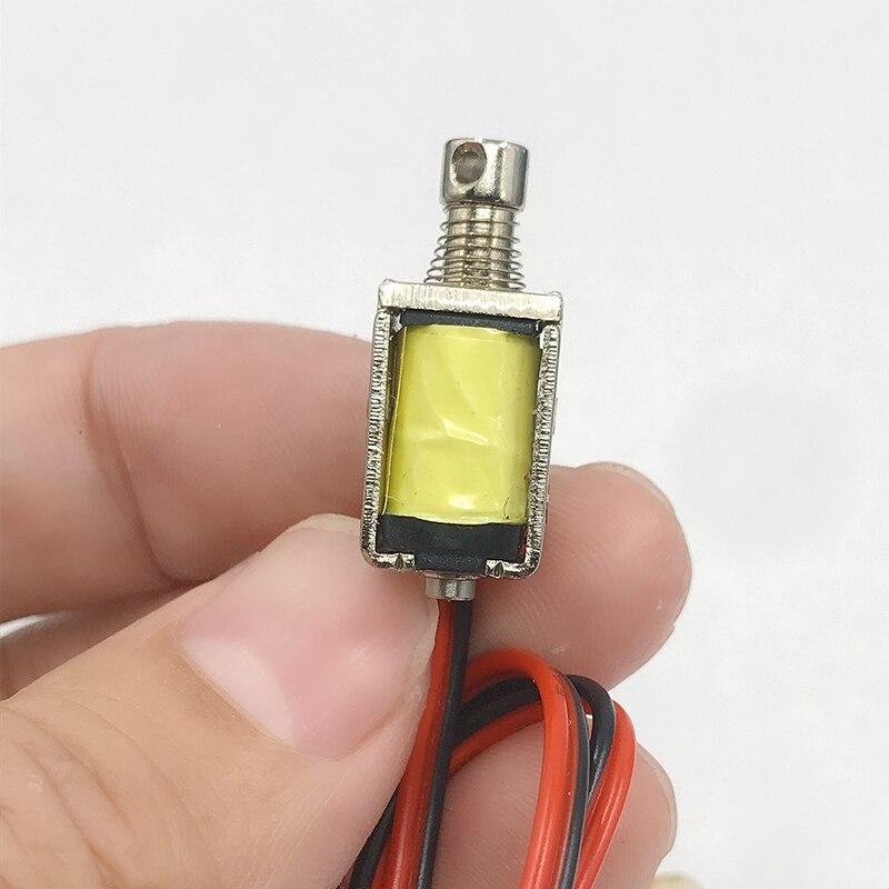 Электромагнитный Мини-соленоид прямоугольного типа, миниатюрный крошечный нажимной вытяжной, с электромагнитным ходом, DC 3 в, 5 В, 6 в, 9 В, 12 В, ...