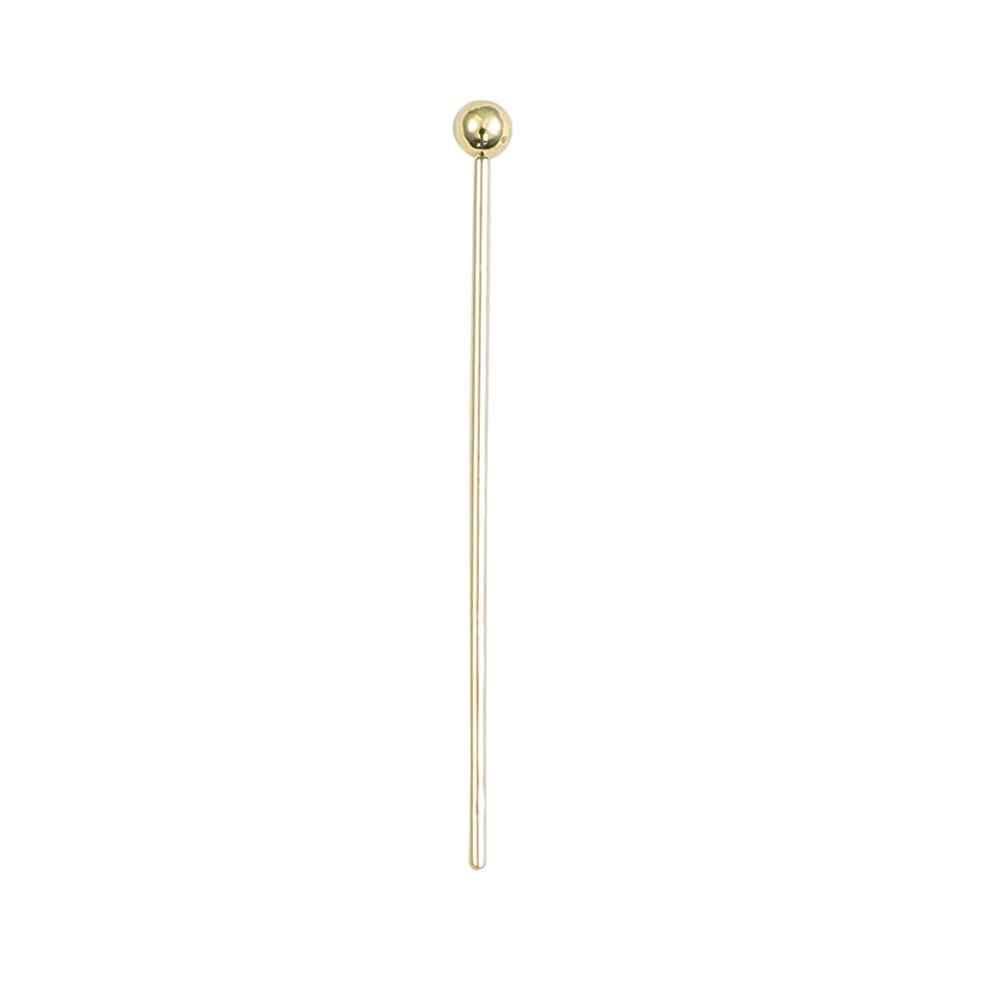 50pcs 35mm Antique Brass Ball Pin Findings