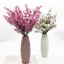 Pink Silk Gypsophila Artificial Flowers Small Bunches 5 Forks 30CM Living Room Decoration Fake Plants Vase for Home Wedding