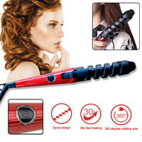 Professional Electric Hair Curlers Curl Ceramic Spiral Hair Curling Iron Roller Curling Wand Salon Hair Styling Tools Portable 3