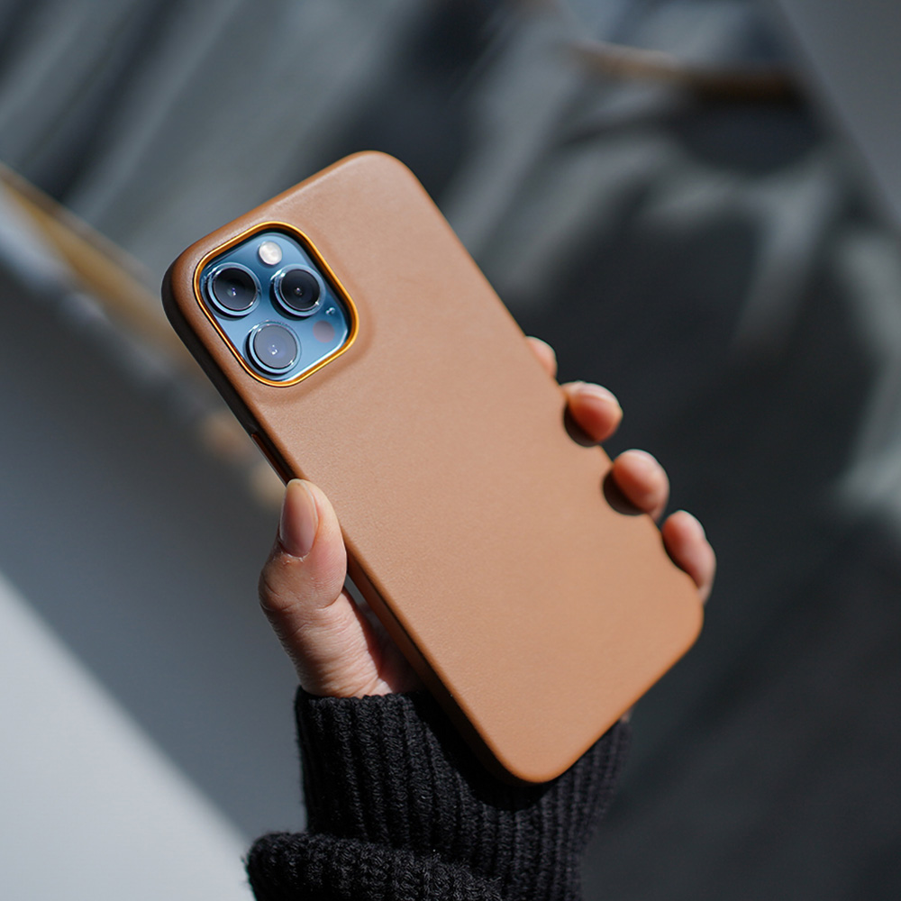 Italian Genuine Leather Case for iPhone 12 Pro Max mini High-end Luxury Business Fashion Calfskin Cowhide Phone Cases Cover