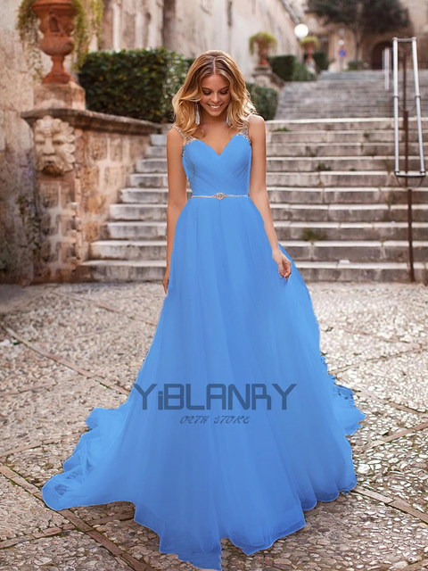 Luxury Wedding Dress Tulle And Beading With A-line V-neck Sleeveless Spahrtti Strap Bride Dresses Backless Button Plus size 6