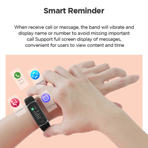 "Image 4 - Lenovo Smart Wristband HX11 0.96"" Heart Rate Monitoring Band 3D Color Screen Sports Smart Watch Weather Display Smart Reminder"