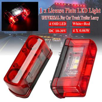 1Pc 12v 24v Car Led License Number Plate Light Lamp Universal Truck Trailer Lorry Rear Tail 4SMD LED