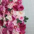 SPR 4ft * 8ft закатать цветок из текстиля стены искусственная Роза случай фон цветочный орнамент украшения Бесплатная доставка - 3