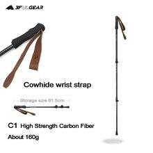 3F UL GEAR Ultralight adjustable Trekking Poles Cork Grip Hiking Walking  Sticks Carbon Fiber  Tungsten Tips  Flip Locks