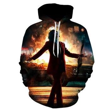 joker costume 2019 Sweatshirts Men Brand Hoodies Men 3D Printing Hoodie Male Casual Tracksuits Size S-6XL Wholesale and retail 4
