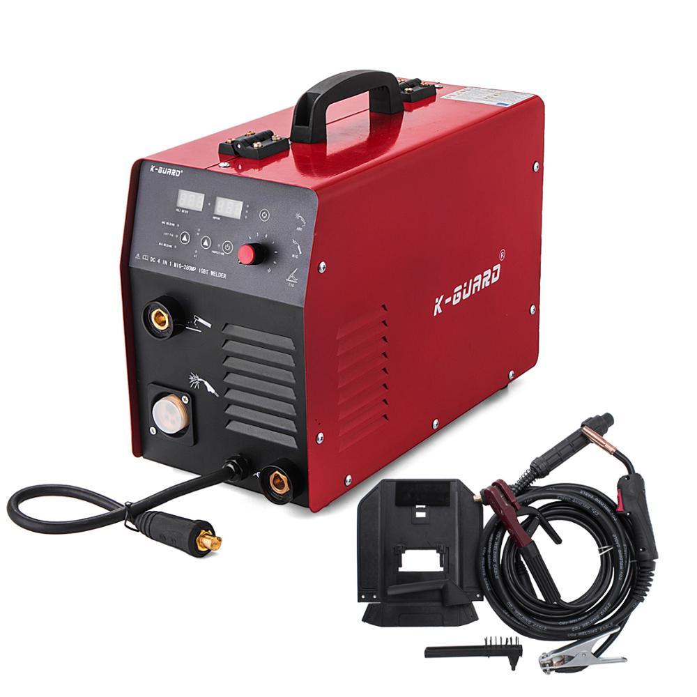 MIG 280A CO2 IGBT Inverter Schweißer Gas/Kein Gas MIG MAG MMA 2 in 1 Tragbare MIG Schweißen Maschine
