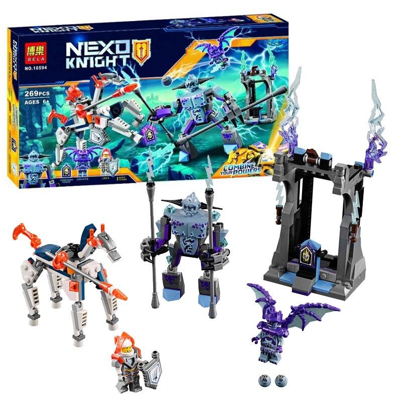 New 269pcs Nexoes Knight Lance Vs Lightning Model Building Blocks Compatible Legoingly 70359 Nexus Mech Horse Figure Toys