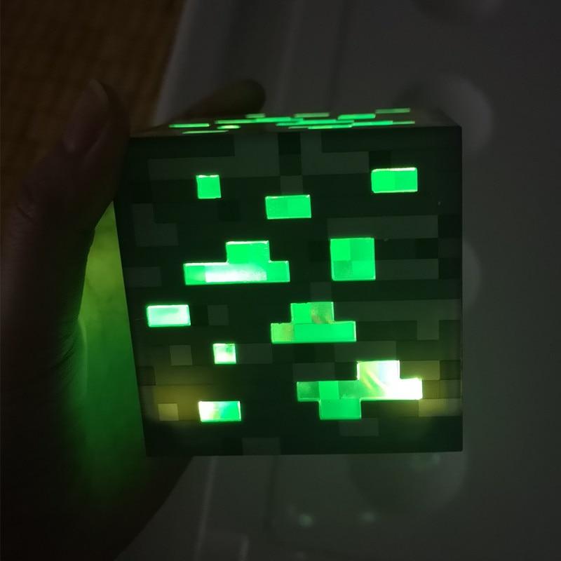 Colorfull Light Up Torch Touch LED Lamp Diamond Block Redstone Ore Square Light LED Children Room Light