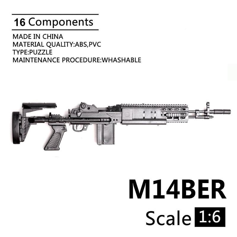 4D 1//6 Scale Toy Gun Assembly Model Building Gun Weapon Military Sandbox Scenes