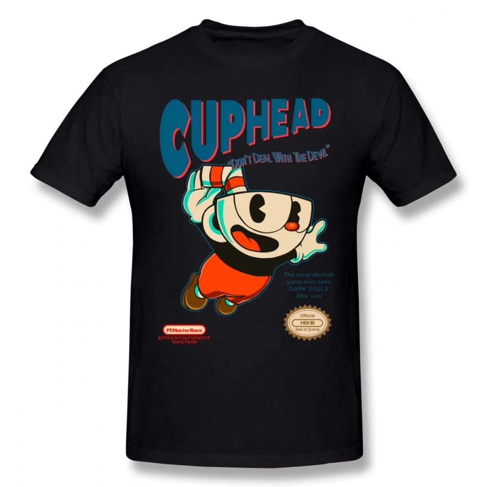 Cuphead T Shirt Super Cuphead T-Shirt Male Big Tee Shirt Short Sleeve Casual Fun 100% Cotton Graphic Tshirt