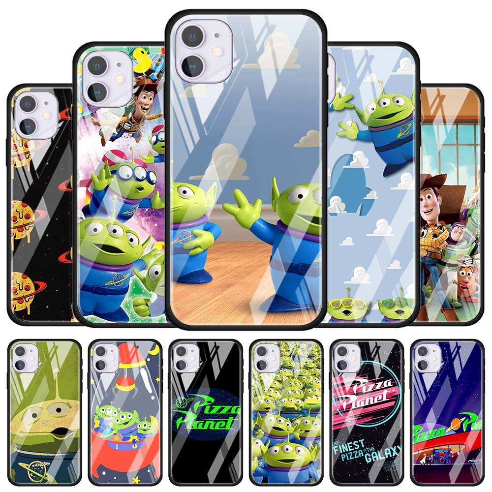 Tempered Glass Case <font><b>Coque</b></font> for Apple <font><b>iPhone</b></font> 11 Pro MAX <font><b>XR</b></font> X XS MAX 7 8 Plus 6 6s Plus Phone Cover <font><b>Toy</b></font> <font><b>Story</b></font> Pizza Planet image