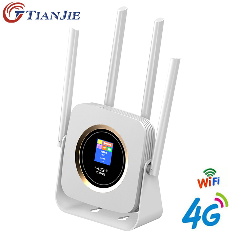 TianJie 4G LTE Wifi Router CPE 4G Modem Mobile Hotspot Wireless Wifi Broadband With SIM Solt Ap Wi Fi Router Universe Gateway