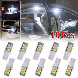 10 pièces retour arrière T10 921 lumière LED ampoules 1206 SMD 42LED 6000K xénon blanc lumières 42 SMD DC 12V ampoules lampe Auto phares
