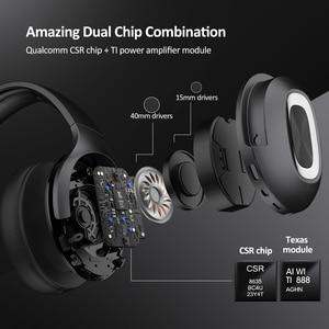 Image 2 - DACOM HF002 Bluetooth ชุดหูฟังไร้สายสเตอริโอหูฟังไมโครโฟนในตัว Dual Driver 4 ลำโพงสำหรับทีวี iPhone Samsung Xiaomi