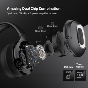 Image 2 - DACOM HF002 Bluetooth Headset Wired Wireless Stereo Headphones Built in Mic Dual Driver 4 Speakers for TV iPhone Samsung Xiaomi