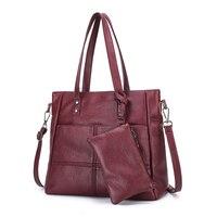 Kajie 2 Pc/sets Women Handbags High Quality Leather Sac A Main Female Shoulder Bag Large Capacity Tote Bag Purses And Handbags