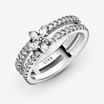 Sparkling Snowflake Double Ring Rings 2ced06a52b7c24e002d45d: 5.25 6 7 7.75 8.5