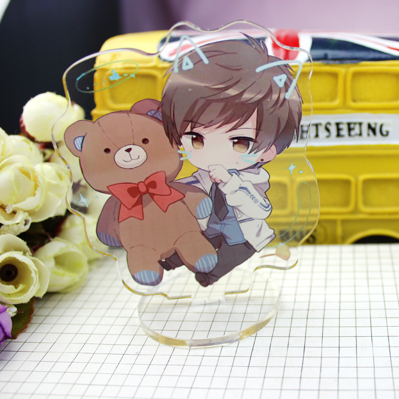 Anime Love Producer Display Small Stand Figure Model Plate Holder Japanese Cartoon Figure Acrylic Jewelry Christmas Gift