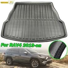 Задний коврик для багажника Toyota RAV4 2019 2020 XA50, коврик для багажника, напольный коврик для багажа, водонепроницаемый коврик для любой погоды