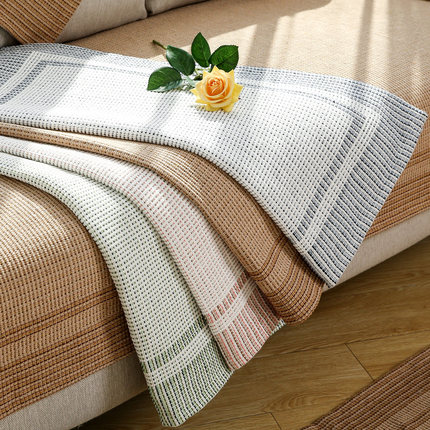 Four seasons universal sofa cushion, simple modern fabric Nordic cover cotton towel