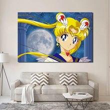 Японская Классическая аниме девушка матрос стена искусство Холст