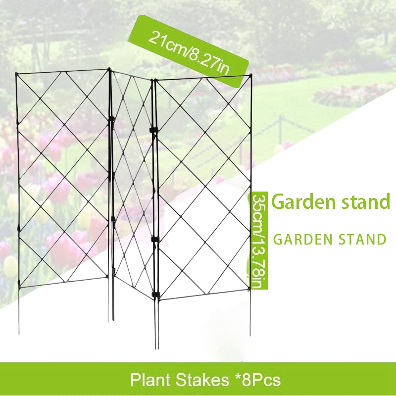 3Pcs DIY Plant Supports for Garden,Trellis for Potted Plants Flower Support for Climbing Plants Easy to Use 20X53cm-4