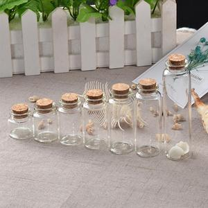 50pcs 10ml 15ml 20ml 25ml 30ml 40ml Glass Bottles with Cork Empty Bottles Jars Containers Vial Crafts Bottles Jars Free Shipping(China)