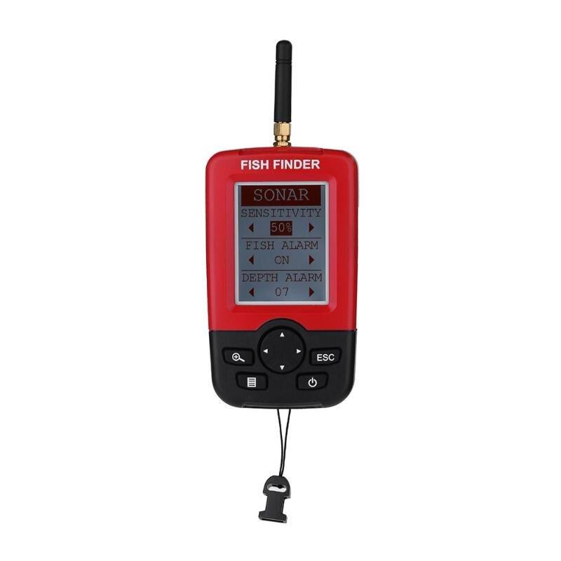 XJ-01 Farbe LCD Display Fisch Finder Wireless Sonar Wandler Fishfinder